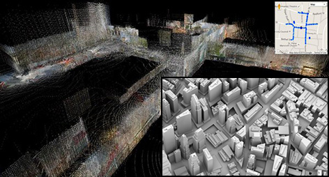 We digitise the environment in 3D.